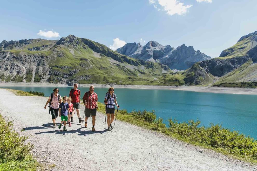 Klettersteig Lünersee : Wandern am lünersee im rätikon